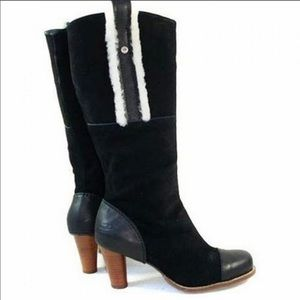 UGG Australia TESS 5504 Black Suede Leather  Boots
